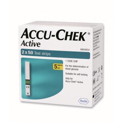 Accu Chek Active 100's Strips