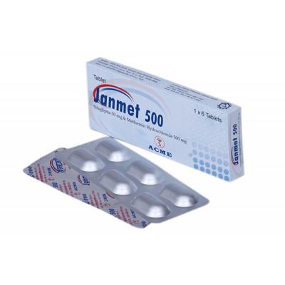 Janmet 50/500 mg Tab