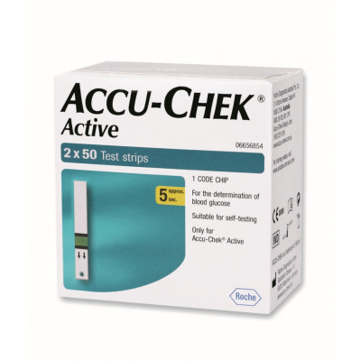 Accu Chek Active 100's Strips