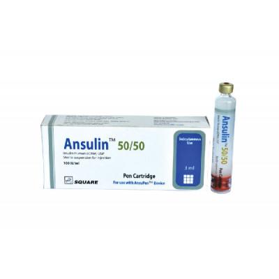 Ansulin 50/50 (100 IU/ml) Pen Cartridge
