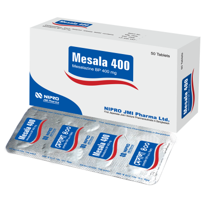 Mesala 400 mg Tablet (Delayed Release), 1 strip