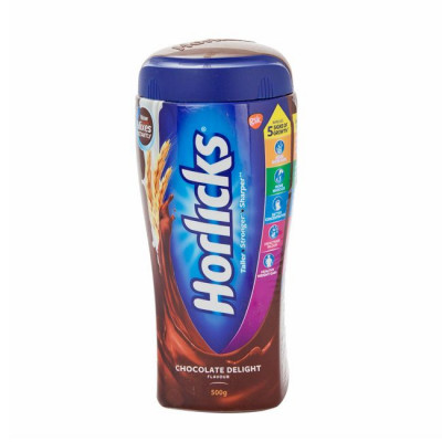 HORLICKS CHOCOLATE DELIGHT 500G JAR