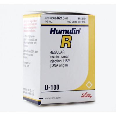 Humulin R -100 iu vial