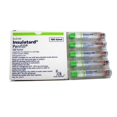 Insulatard 100 IU penfill (5 Cartridge)
