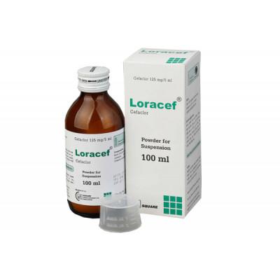 Loracef 125 mg/5 ml suspension 100 ml bottle