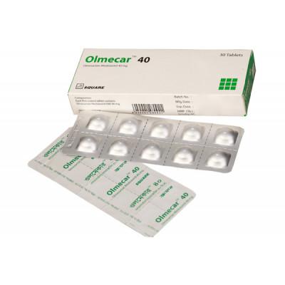 Olmecar 40 mg Tablet